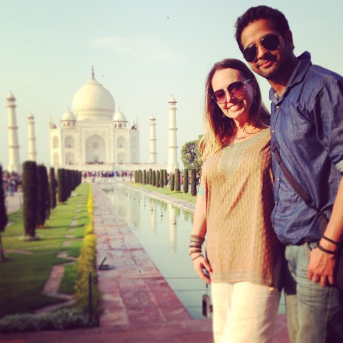 Manny and Lisa at the Taj Mahal