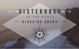 Sisterhood blogging award