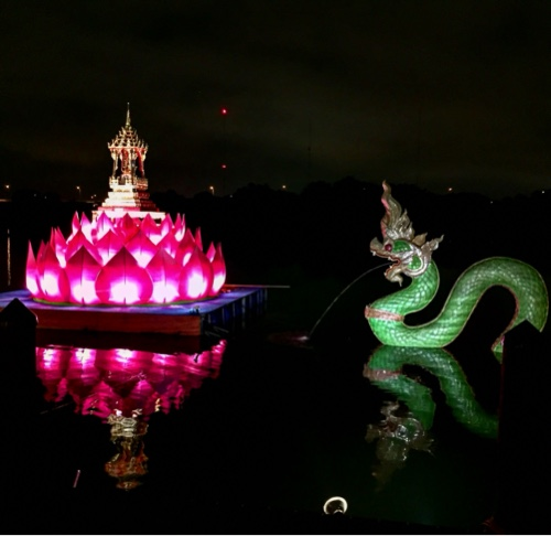 Loy Krathong fest, aka the Lotus festival